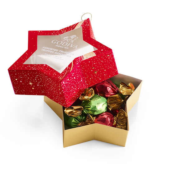 Star Ornament with Wrapped Truffles, 10 pc. image number null