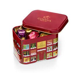 Petite boîte métallique des fêtes Cube G, 15 mc.
