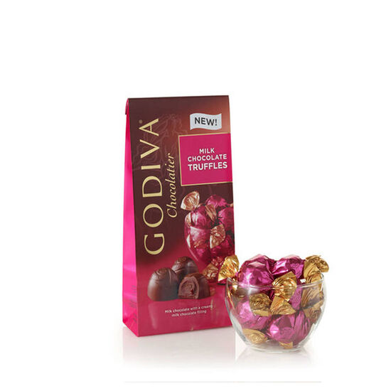 Wrapped Milk Chocolate Truffles, Large Bag, 19 pc. image number null