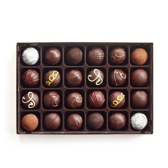 Truffes au chocolat noir, 24 mc. image number null