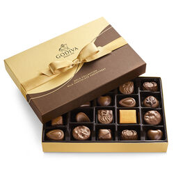 Milk Chocolate Gift Box, Gold Ribbon, 22 pc.