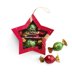 Star Ornament with Wrapped Truffles, 10 pc.