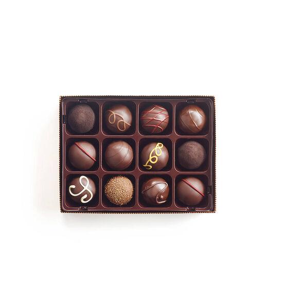 Truffes au chocolat noir, 12 mc. image number null