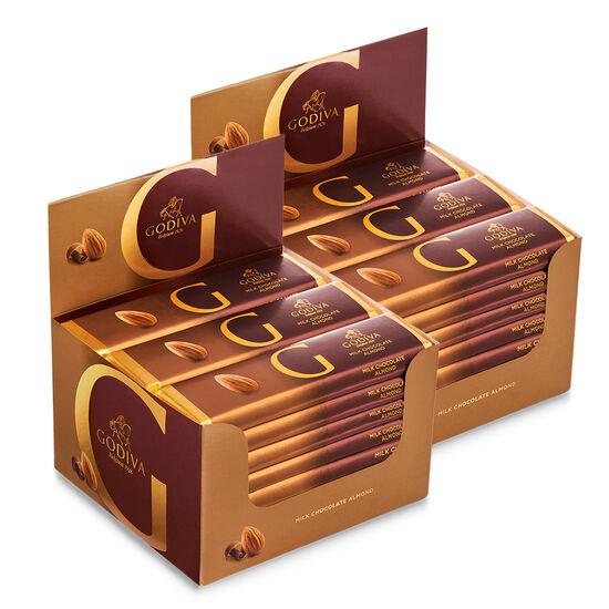 Barre de chocolat au lait aux amandes, emballage de 48, 43 g chacune image number null
