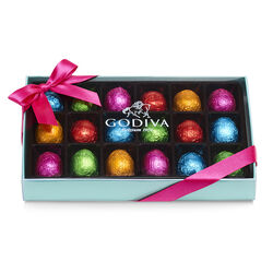 Foil-Wrapped Chocolate Easter Egg Gift Box, 18 pc.