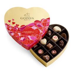 Boîte-cadeau de chocolats assortis de la Saint-Valentin en forme de cœur, 14 mc