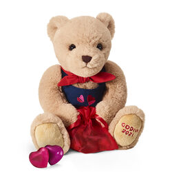 Limited Edition Valentine's Day Plush Bear with Chocolate Hearts