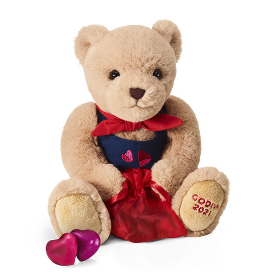Limited Edition Valentine's Day Plush Bear with Chocolate Hearts image number null