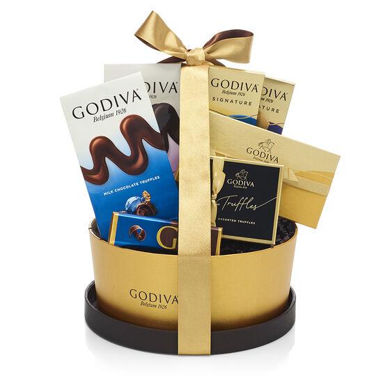 Panier de chocolats de spécialité, ruban classique image number null