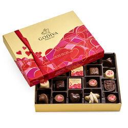 Boîte-cadeau de chocolats assortis de la Saint-Valentin, 20 mc