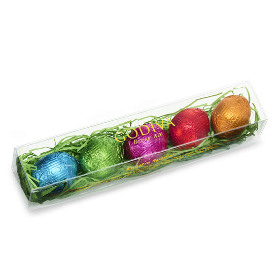 Foil-Wrapped Chocolate Easter Egg Gift Box, 5 pc. image number null