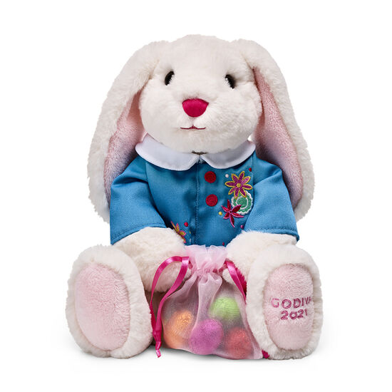 Plush Bunny with Chocolate Foil Easter Eggs image number null