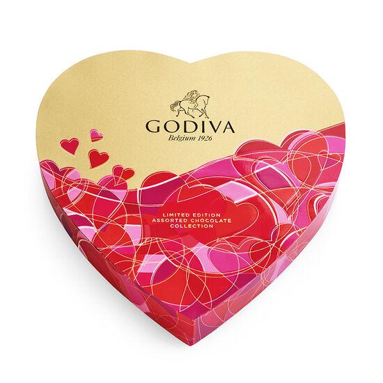 Boîte-cadeau de chocolats assortis de la Saint-Valentin en forme de cœur, 14 mc image number null